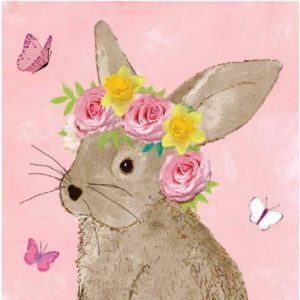 Roses On Bunny Head Decoupage Napkin