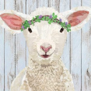 Flower On Sheep Head Decoupage Napkin