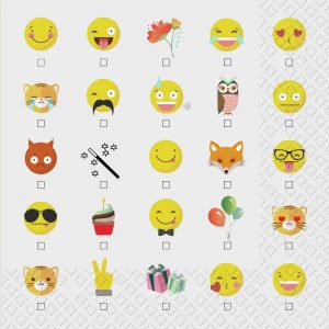 Funny Emoji Faces Decoupage Napkin