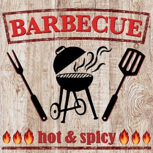 Barbecue Hot And Spicy Decoupage Napkin