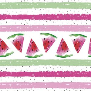 Pieces Of Watermelon With Stripes Decoupage Napkin