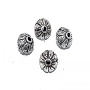 German Silver Round Beads