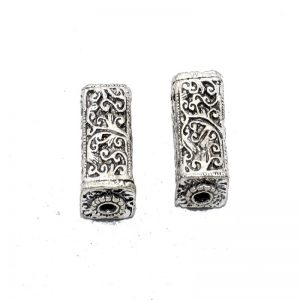 German Silver Rectangle Shape Beads