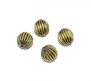 Antique Gold Oval Shape Beads