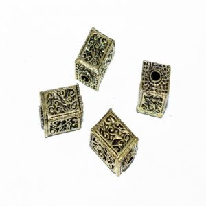 Antique Gold Square Shape Beads