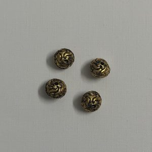 Antique Gold Rondelle Shape Beads