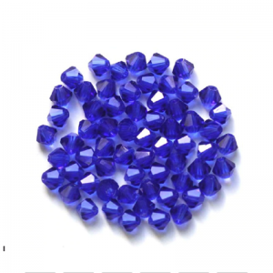 Bicone Crystal Blue Bead