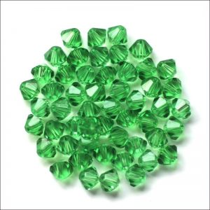 Bicone Crystal Green Bead