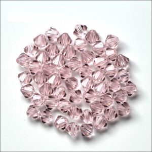 Bicone Crystal Baby Pink Bead