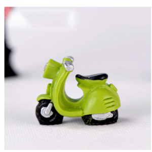 Miniature Green Scooter