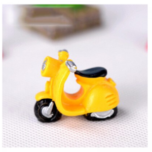 Miniature Yellow Scooter