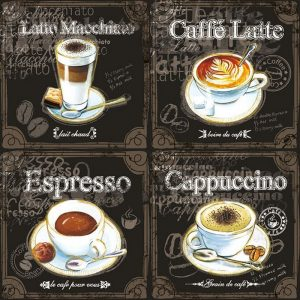 Types Of Coffee Decoupage Napkin