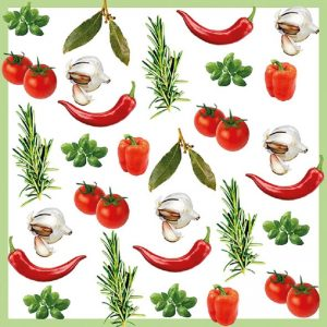 Italian Vegetables Decoupage Napkin