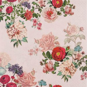 Elizabeth Roses In Peach Background Decoupage Napkin