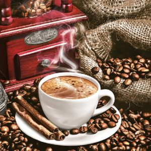 Aromatic Coffee Decoupage Napkin