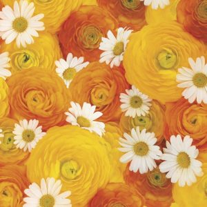 Yellow And White Flower Bouquet Decoupage Napkin