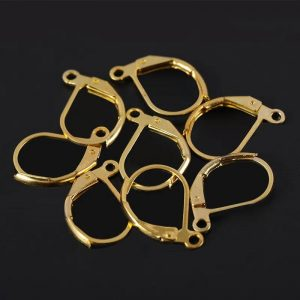 Gold French Round Earring Clasp