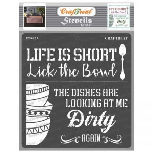 CrafTreat Stencil 12 X 12 - Dirty Dishes