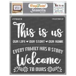 CrafTreat Stencil 12 X 12 - This is us