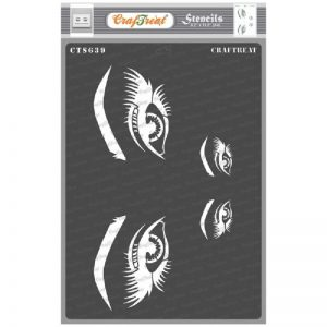 CrafTreat Stencil - Beautiful Eyes A4