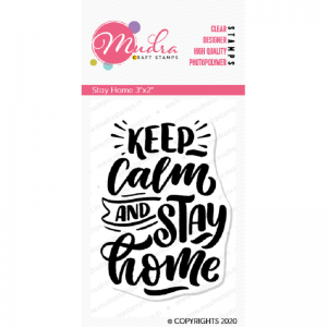 Mudra Clear Stamp - Stay Home