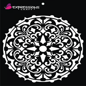 Expressions Craft Stencil - Decorative Mandala 2