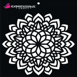 Expressions Craft Stencil - Decorative Mandala 5