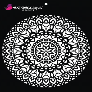 Expressions Craft Stencil - Decorative Mandala 4