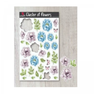 Pre-Cut Elements Sheets - Cluster Of Flowers