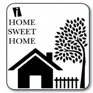 iCraft 4 x 4 Mini Stencil - Home Sweet Home
