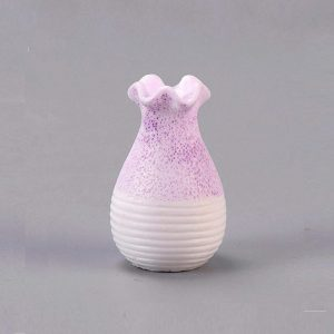 Miniature Vase – Lavender With White