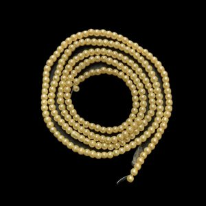 Faux Pearl Round Beads - Ivory