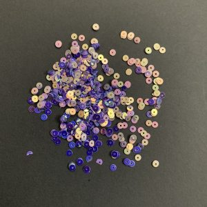 Double Shade Purple Round Sequins