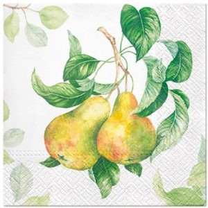 Pear In The Garden Decoupage Napkin