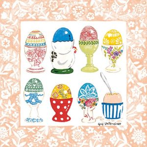 Easter Egg On Holder Decoupage Napkin