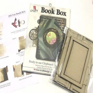 Chipboard DIY Cutout - Book Box