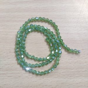 Bicone Crystal Beads - Light Green