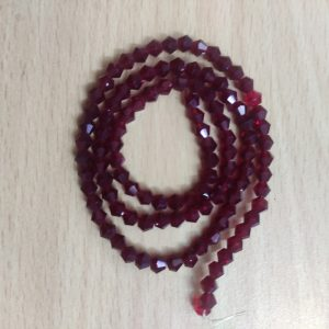 Bicone Crystal Beads - Dark Maroon