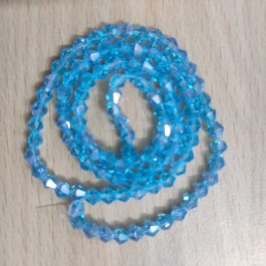 Bicone Crystal Beads - Baby Blue