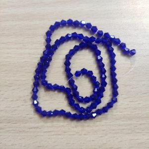 Double Shade Bicone Crystal Beads - Royal Blue