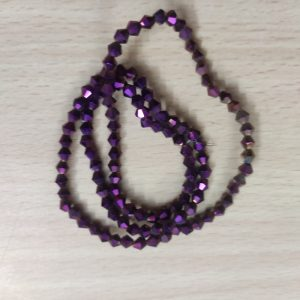 Double Shade Bicone Crystal Beads - Dark Purple
