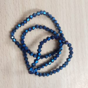 Double Shade Bicone Crystal Beads - Blue