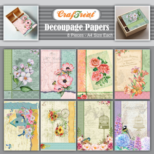 Craftreat Decoupage Paper - Dreamy Florals