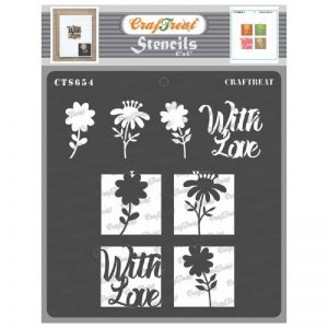 CrafTreat Stencil - Flowers with love