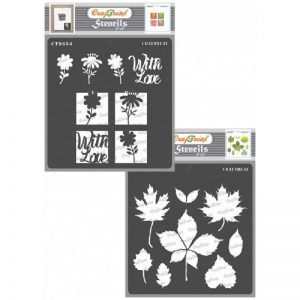 CrafTreat Stencil - Flowers with love and Autumn Leaves