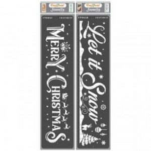 CrafTreat Stencil – Merry Christmas and Let it Snow