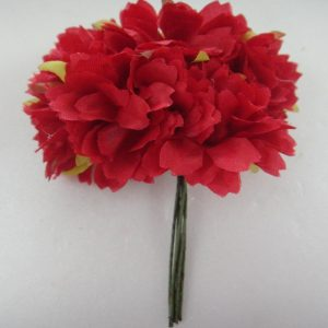 Fabric Flower - Red