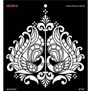 Mudra Stencil - Indian Peacock Motif