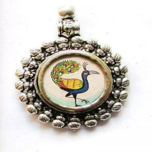 German Silver Peacock Pendant