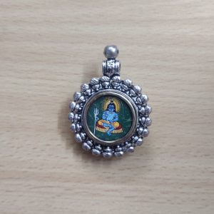 German Silver Lord Siva Pendant